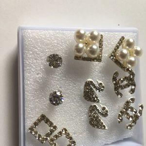 New women's 5 pairs Earrings